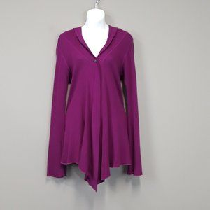 Hard Tail Forever Purple One Button Hoodie Size M